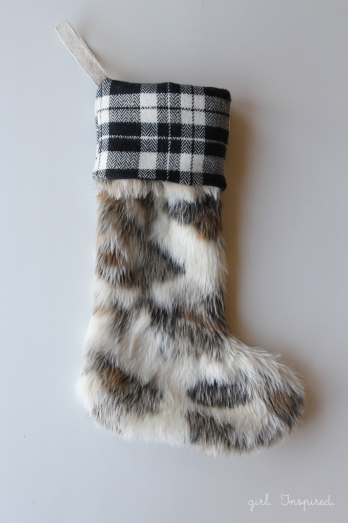 Viola! Your Fur and Flannel Holiday Stocking is complete!