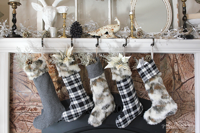 Fur and Flannel Christmas Stockings