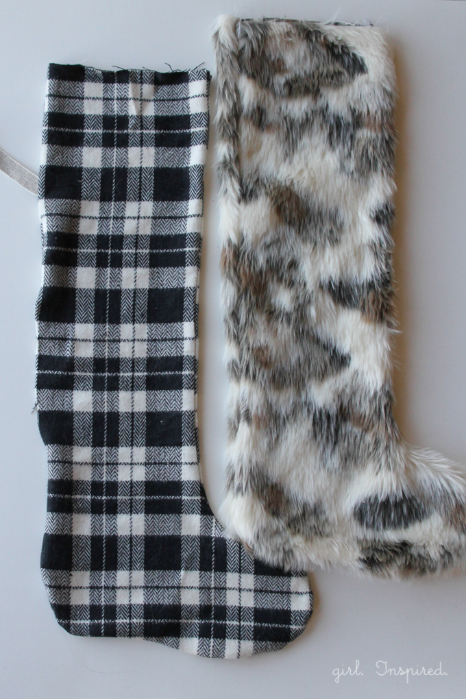 Step Four: Sew the fur exterior of your stocking