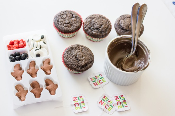 Reindeer Chocolate Cupcake Recipe from Sweet C's Designs