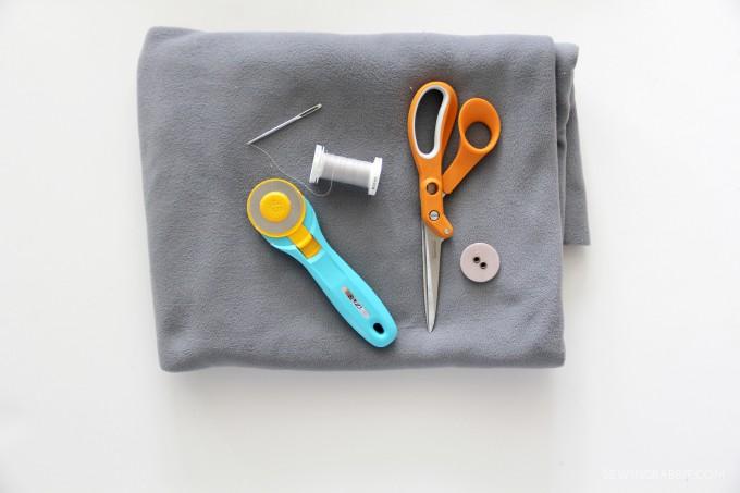 DIY French Braid Scarf Supplies