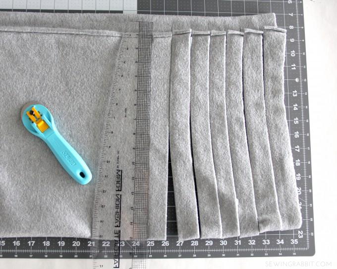 DIY French Braid Scarf Step One