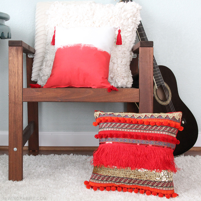 Bohemian Inspired Fringe DIY Pillow