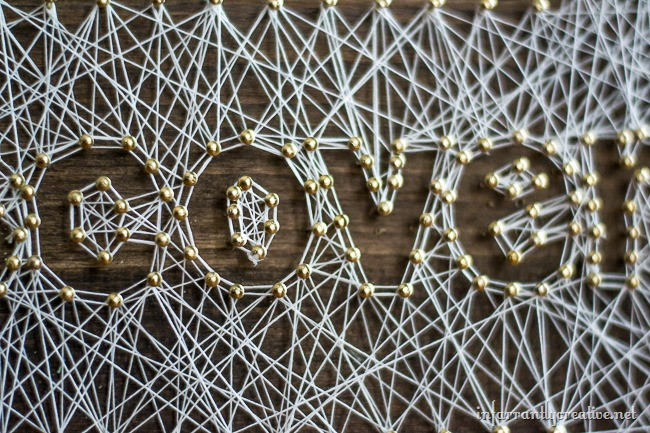 Finished DIY String Letter Art