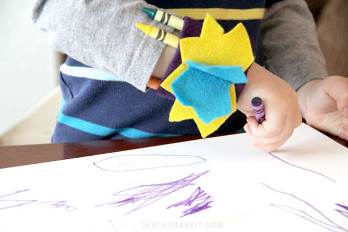 Make a Super Hero DIY Crayon Cuff
