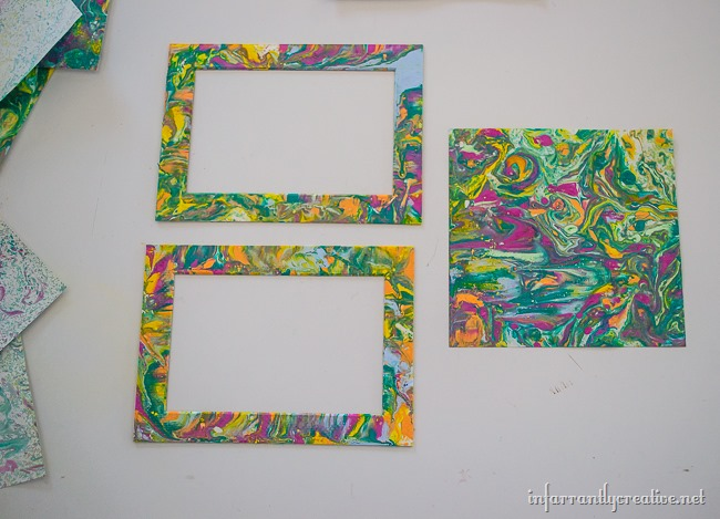 Project Tutorial on how to make your own DIY Oil Painted Matte Frames