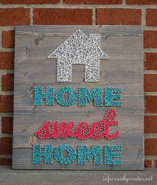 Home Sweet Home DIY String Letter Art by Beckie Farrant