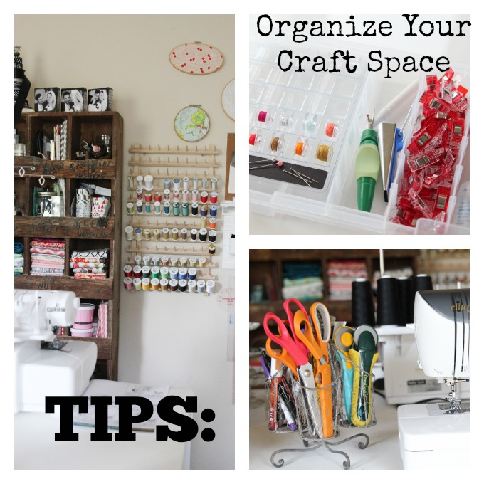DIY Tips to help you Organize your Craft Space or Sewing Room