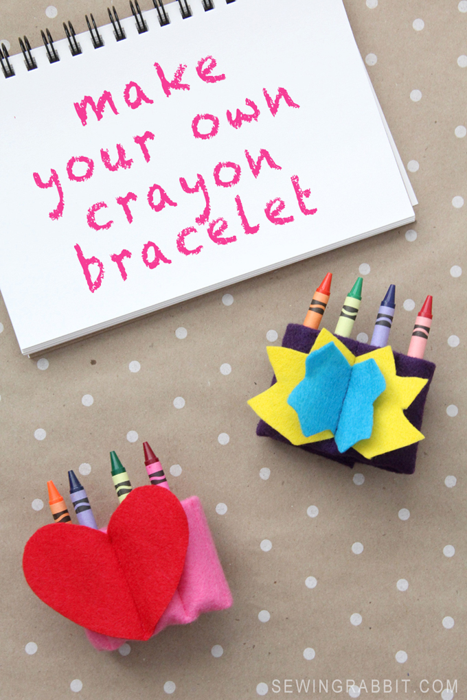 DIY Make Your Own Crayon Bracelet for Kids