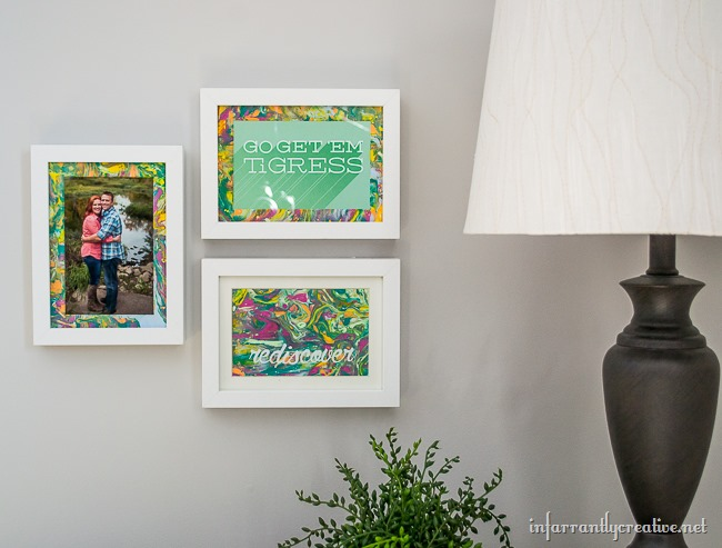 DIY Marbled Gallery Wall Frames