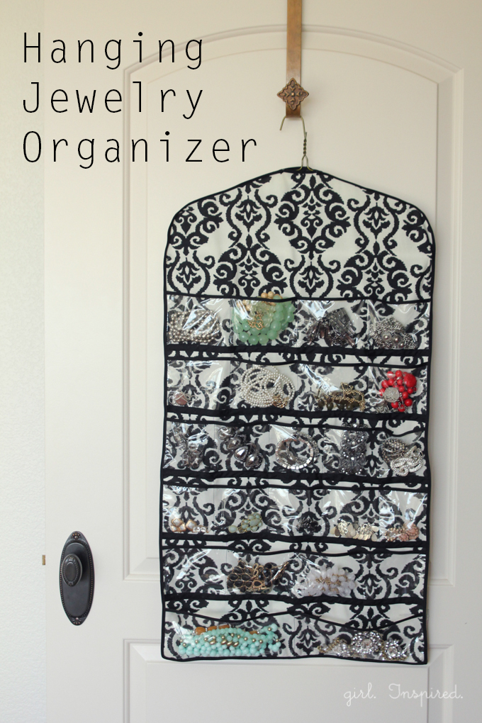 Hanging Jewelry Organizer Tutorial