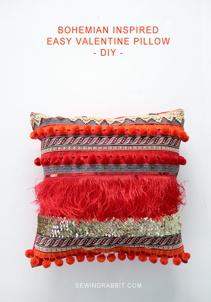 Bohemian Inspired DIY Fringe Pillow Tutorial
