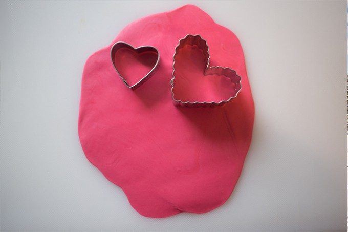 Valentine's Day Heart Shaped Fondant Cake Decor