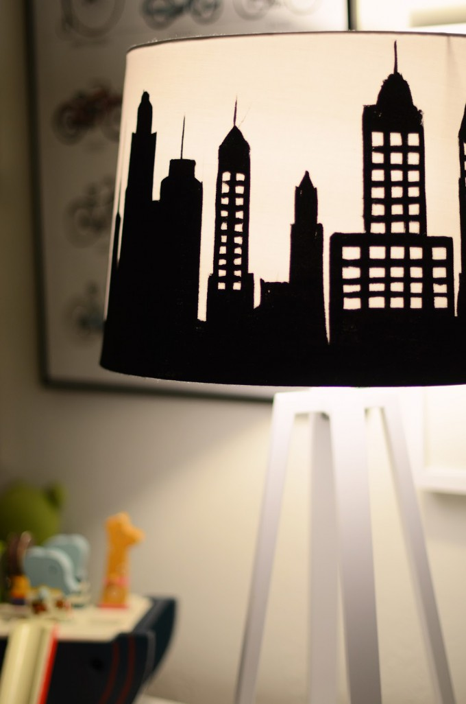 DIY Painted Lampshade Tutorial from Merrick White