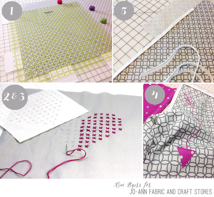 Steps to make your own DIY Cross-Stitch pillow with tutorial