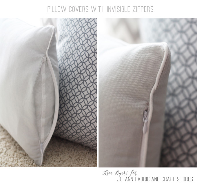 How to make an invisible zipper pillows