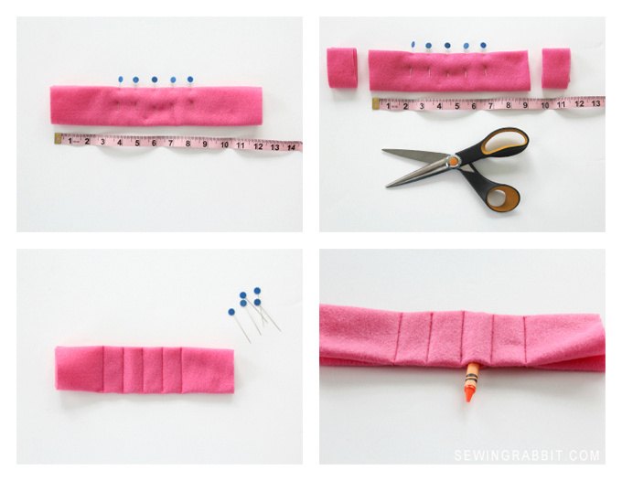 How to sew a DIY Crayon Cuff