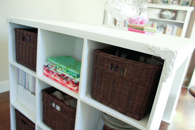 Keep your craft room organized with cubby storage bins