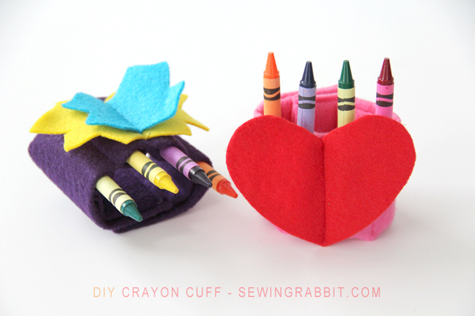 Kids DIY Crayon Cuff Tutorial