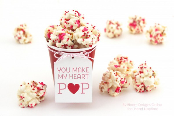 Valentine's Day Popcorn Recipe with FREE Printable from I Heart Naptime