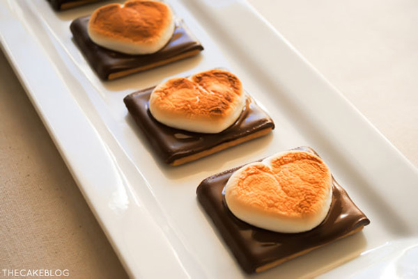 Valentine's Day S'mores Recipe from The Cake Blog
