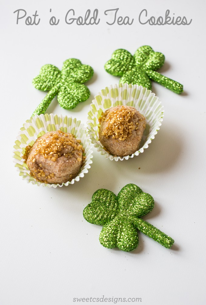 St. Patrick's Day Recipe // Pot 'O Gold Tea Cookies