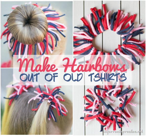 How to Make Hairbows out of old Tshirts