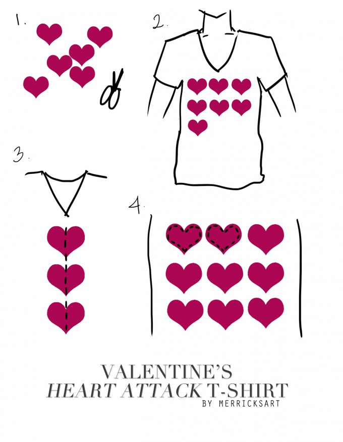 DIY Directions for Heart Attack Valentine's Day T-Shirt