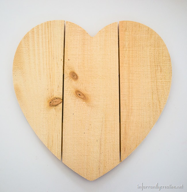 DIY Rustic Wood Heart from joann.com // Great for Valentine's Day Crafting