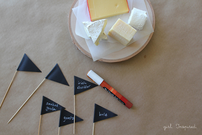 DIY Chalkboard Party Food Markers