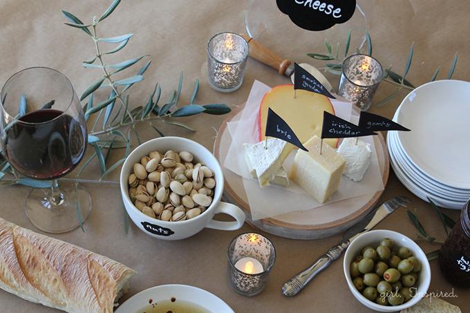 Cute DIY Cheese Appetizer Spread