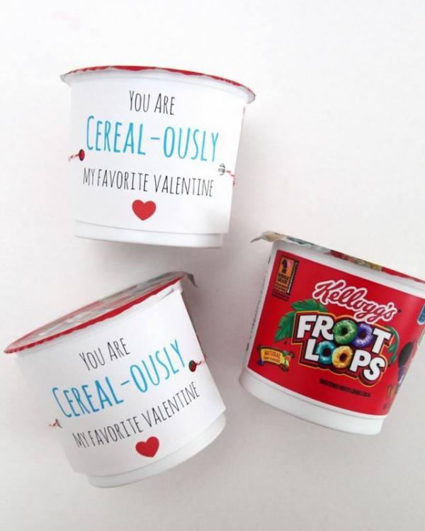 Cereal-ously Cute Valentine's Day Printable from Smashed Peas and Carrots