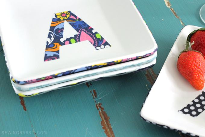 DIY Fabric Platters