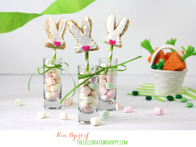 Easy Easter Bunny and Carrot Rice Krispie Easter Treats Recipe