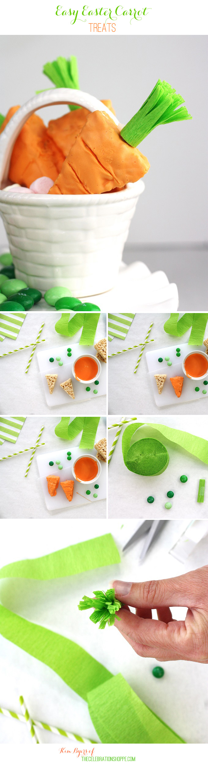 Delicious Easter Treat Recipe // Easy Easter Bunny and Carrot Top Treats