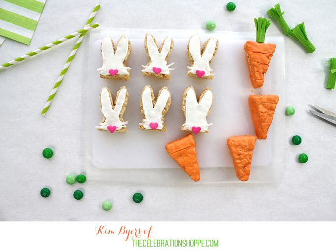 Easy Easter Bunny and Carrot Top Treats Recipes // Easy Easter Dessert Recipe Idea