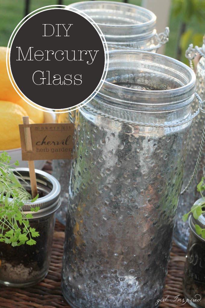 DIY Mercury Glass Jars