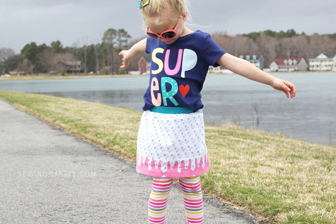 Easy Easter Skirt DIY
