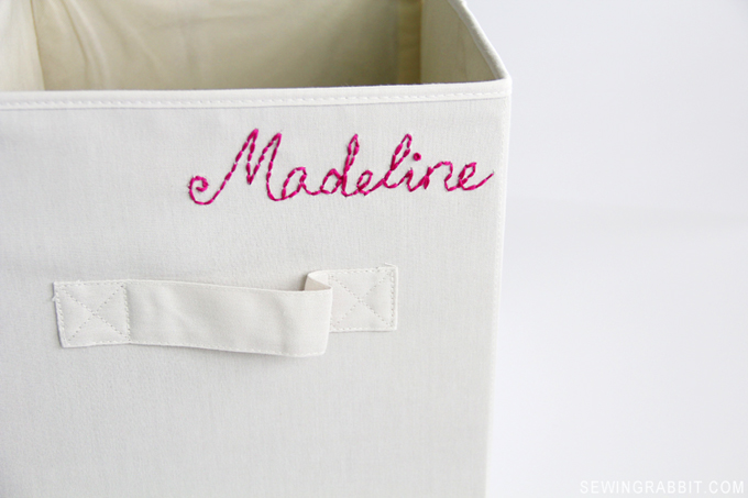 How to Embroider a Basket