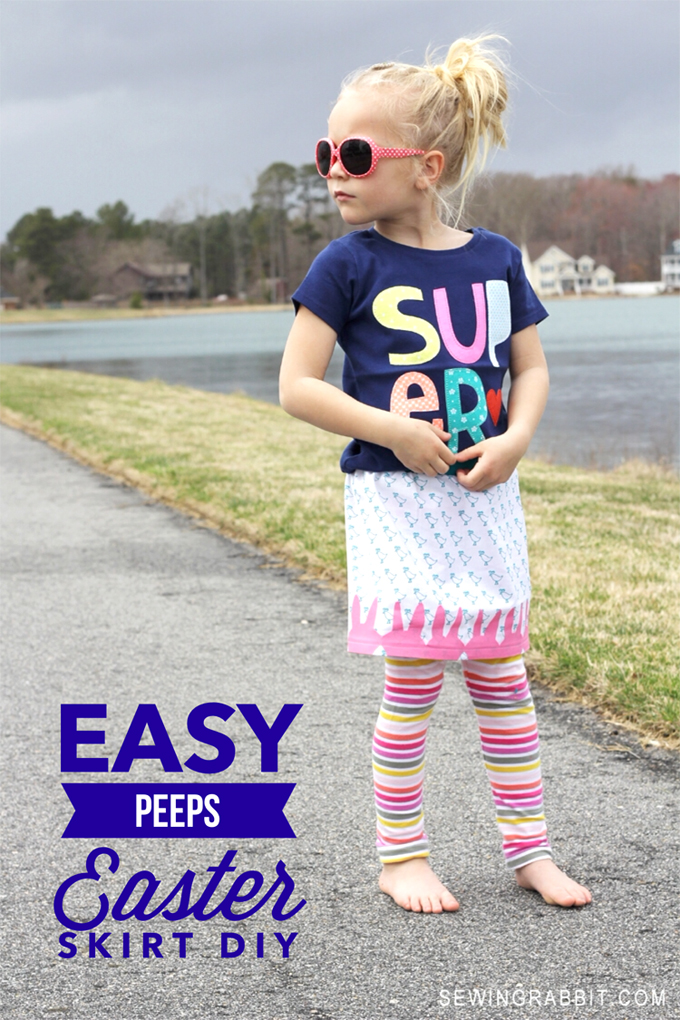 Easy Peep Skirt DIY // FREE Elastic Waist Skirt Pattern