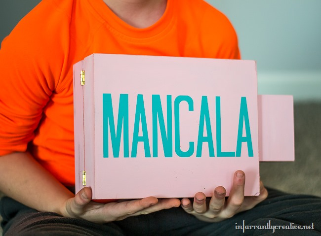 Kids DIY Mancala Game Set // Great for keeping kids busy on rainy afternoons