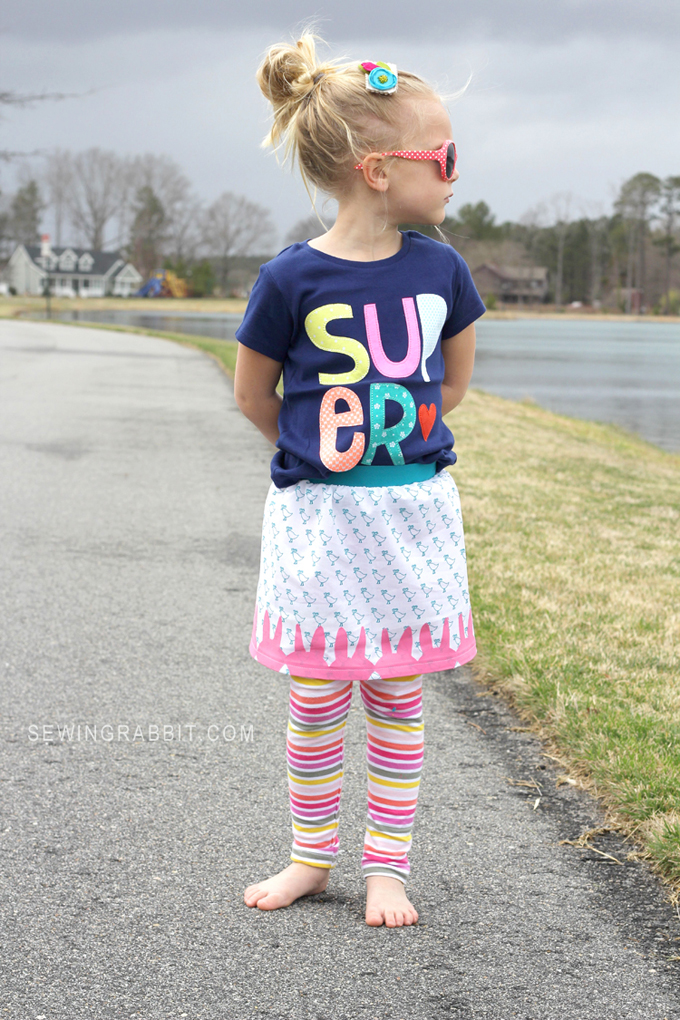 SUPER Cute Girls Elastic Wait Skirt Pattern // FREE DIY Skirt Pattern