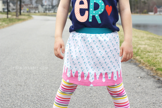 Adorable DIY Easter Peep Skirt // Easter Skirt Pattern