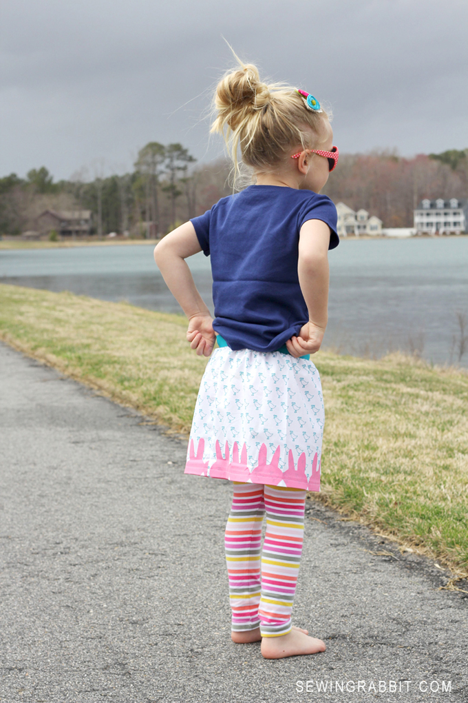 Cute Little Girl's Easter DIY Skirt Pattern // Easy DIY Peep Skirt