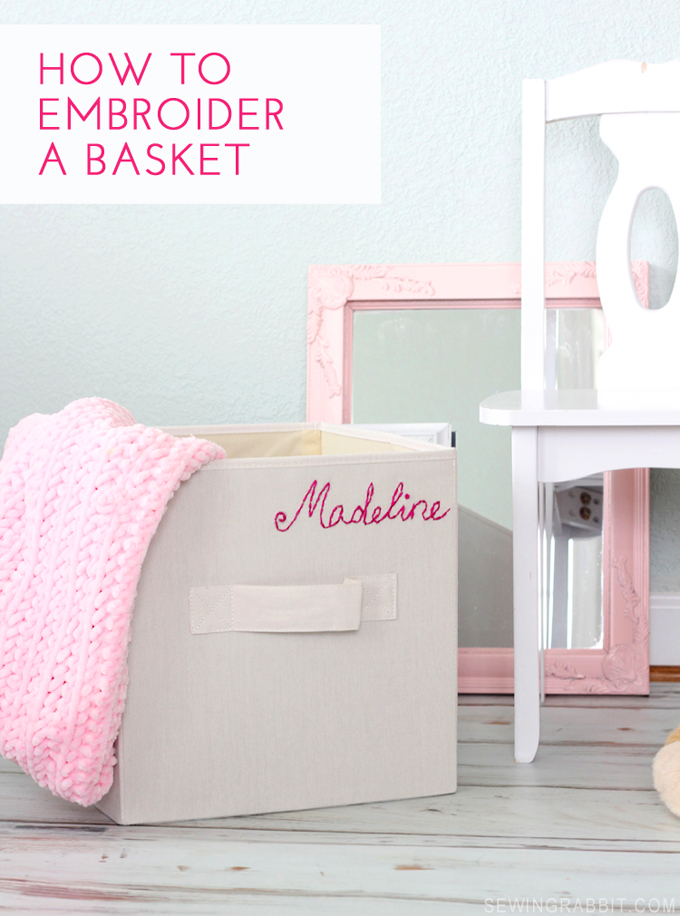 How to Embroider and Personalize a Basket // DIY by MeSewCrazy.com for Blog.Joann.com