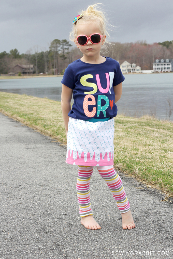 Cute and FREE DIY Easter Skirt Pattern // Easter Peep Skirt DIY
