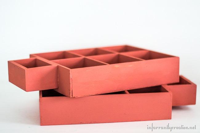 DIY Painted Mancala Game Set by InfarrantlyCreative.net for The Creative Spark