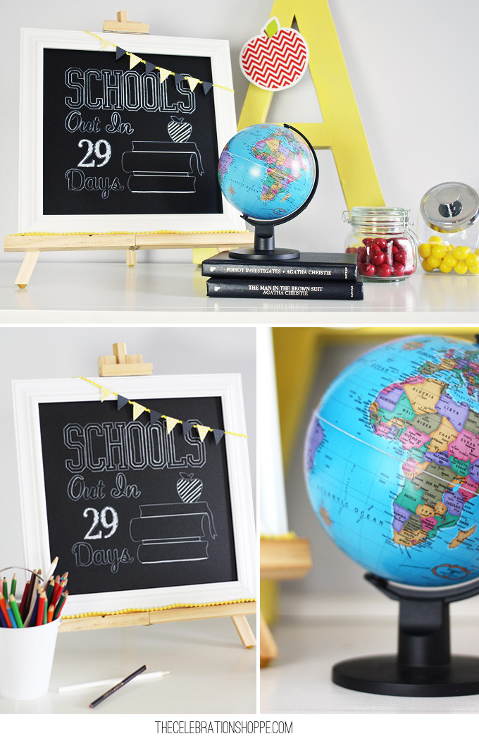 DIY Chalkboard Sign // Last Day of School Countdown Sign by TheCelebrationShoppe.com for Joann.com