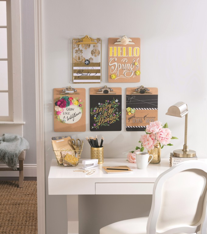 DIY Clipboard Organization Wall Art