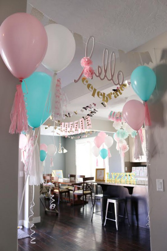 DIY Party Entrance by Heidi Swapp // DIY Party Ideas from The Creative Spark